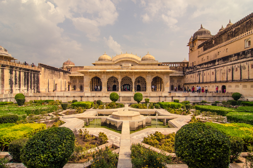 Summer and winter palaces, with Mughal garden dominating the courtyard