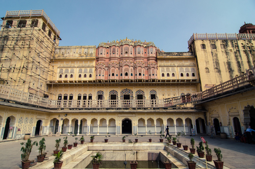 Internal courtyard of the Hawa Mahal