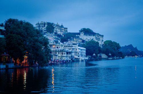 Lake Pichola at dusk