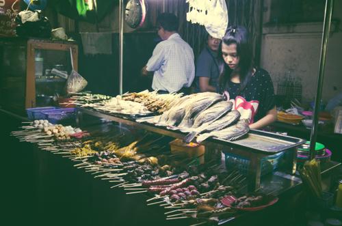 Kebab stall.