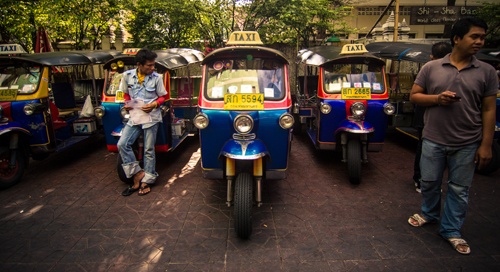 Come night time, walking past the tuktuks includes multiple offers for 'Ping Pong Show?'