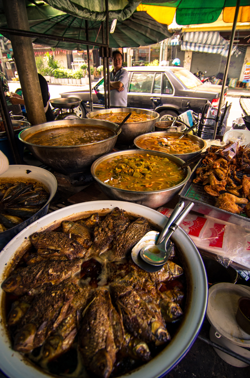 Real Thai food on the streets of Banglampu