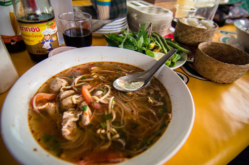 The glorious noodle soup that we had for lunch