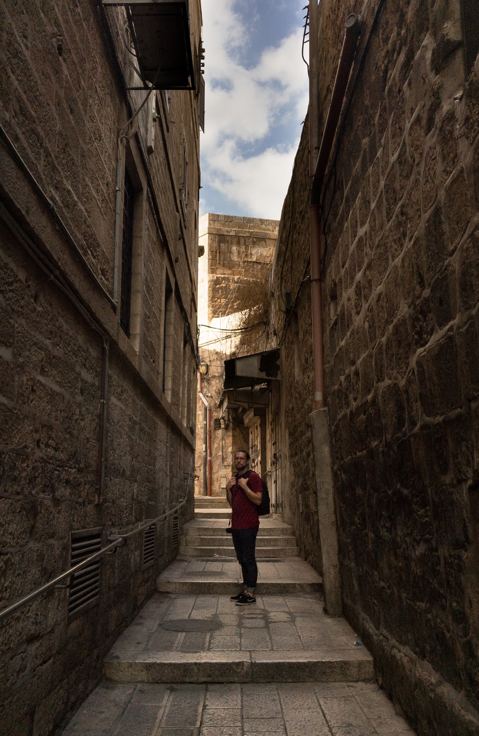 Getting lost in the Old City - somewhere between the Jewish, Armenian and Christian quarters...