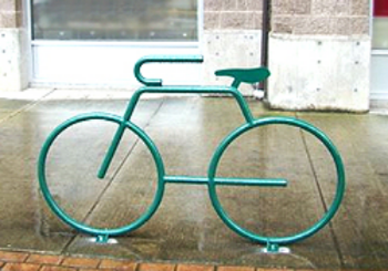 Proposed bike rack for the San Diego                        Bike Share Program.