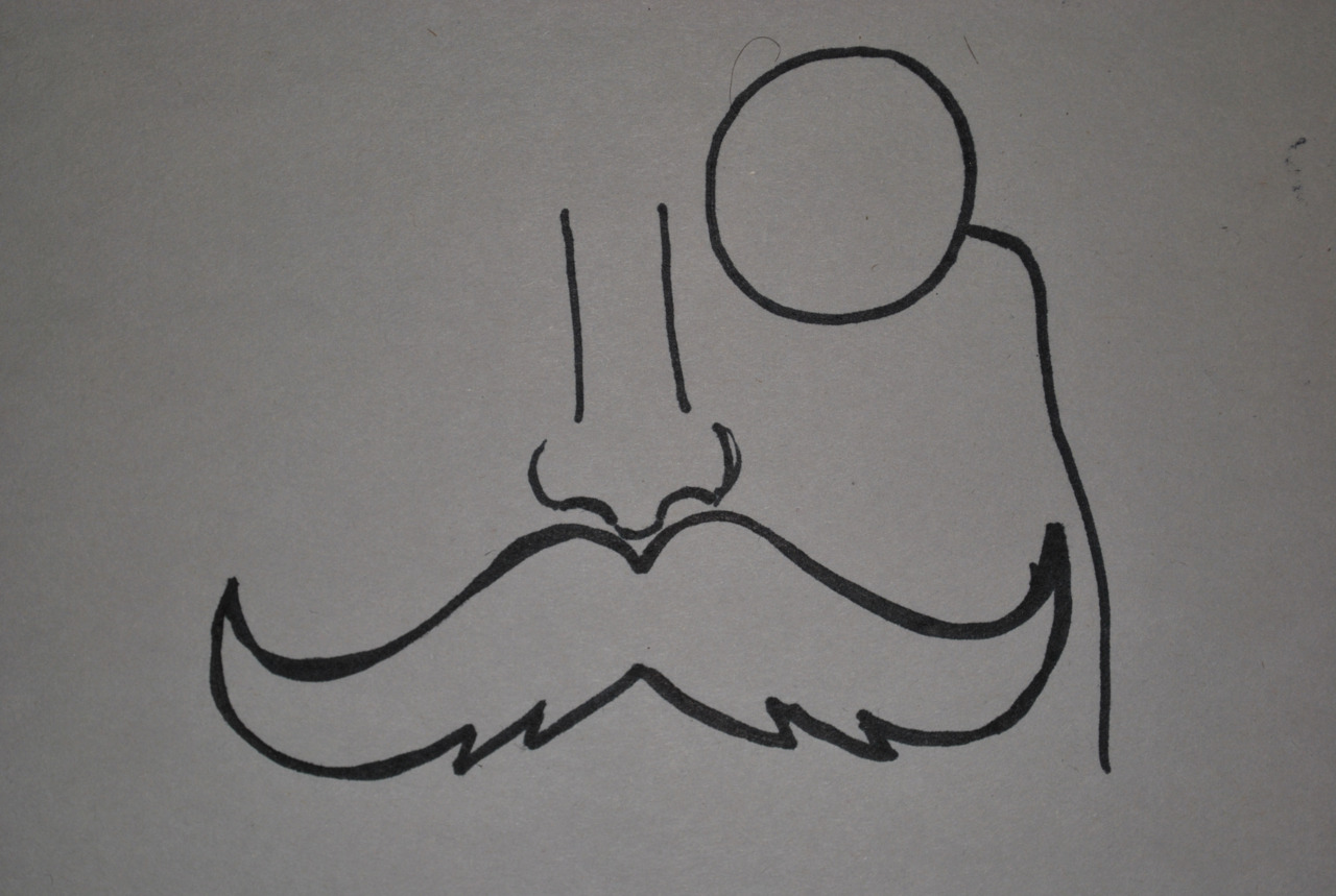 Will become logo man, drawn by Annina
