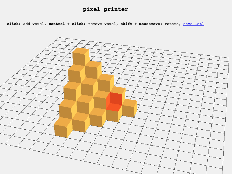 Pixel Printer webGL modeling