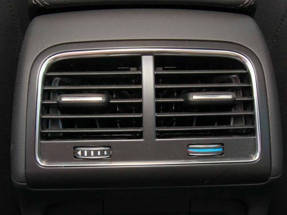 Backseat air vents on an Audi