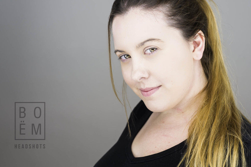 A professional headshot session for Rachel, an actress here in Adelaide by Andre Goosen for Boem Headshots, the premier headshot photographer.