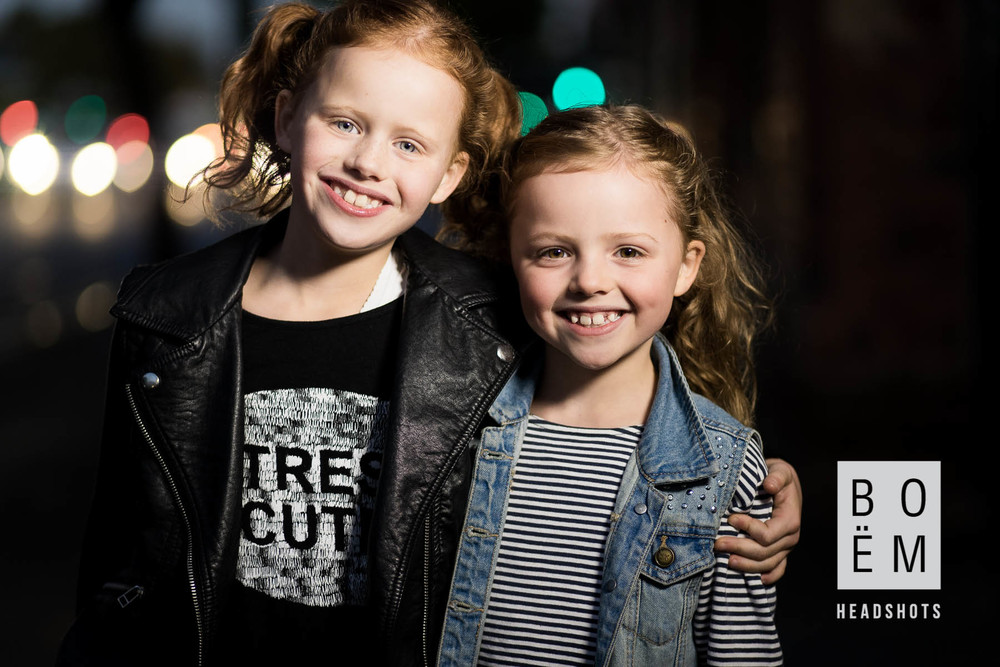 A Headshot session for two of the prettiest little girls I've ever seen here in Adelaide by Andre Goosen for Boem Headshots, The premier headshot photographer.