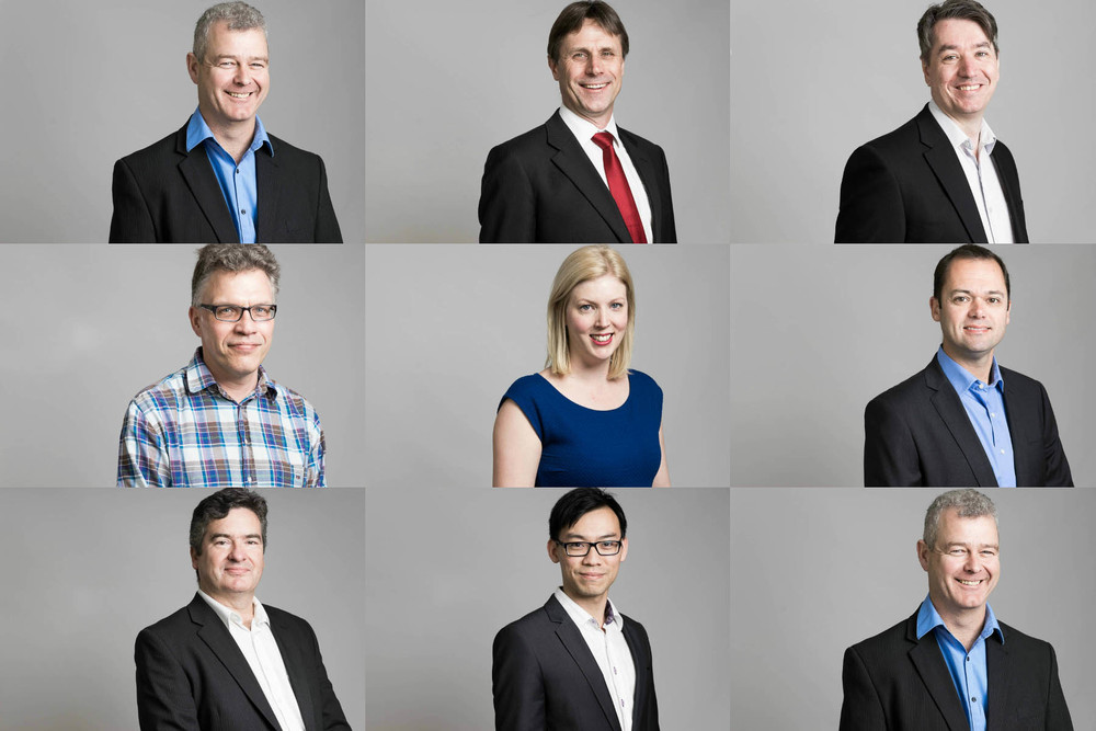 Highly fashionable headshots on a grey background for Adelaide Interim by Boem Headshots.