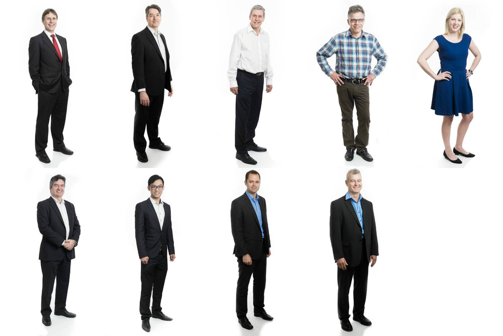 Full length commercial portraits for Adelaide Interim by Boem Headshots.