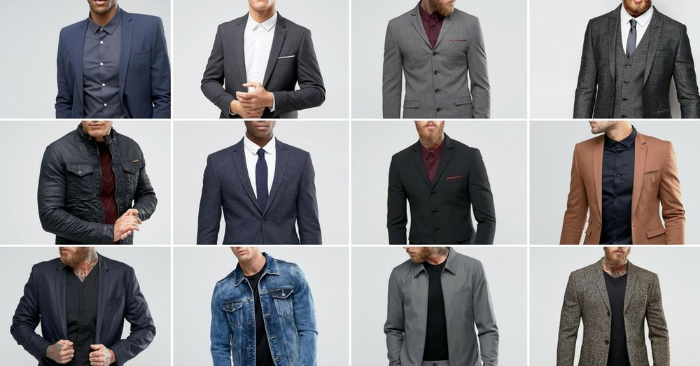 A great, fitted jacket can't be beat. Don't forget to pack this one for your headshot session.   Images found on ASOS.com