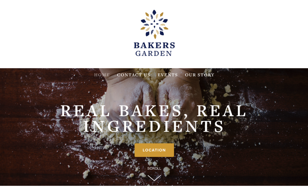 Bakers Garden webdesign