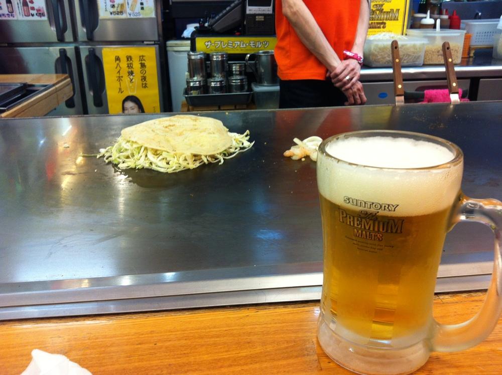 The best thing about Hiroshima. Hiroshima-yaki.