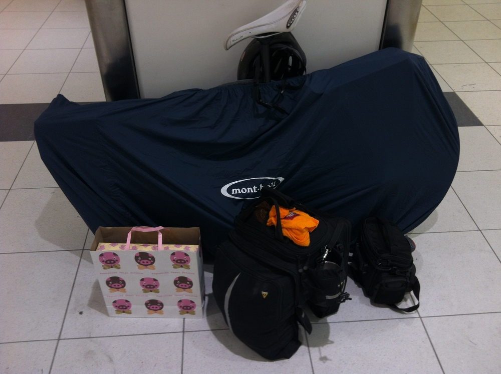 At Kagoshima Station, packed and ready to roll back to the neons of Tokyo.