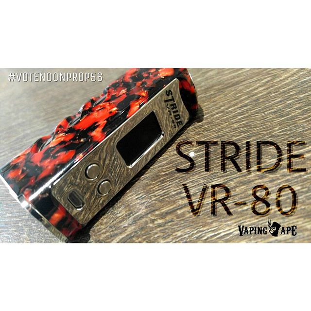This Pretty Stride VR-80 by Vapor Range is now available here @VapingApeLA... Providing 80w and temperature control features with the user friendly GX-80-C chip with extra features that would make you love this device even more. Hurry and grab yours today.  #vapingape #vapingapela #vapingapetokyo #vapingapeie #vapecommunity #vapefam #vapefamily #vapeworld #vapesociety #vapeuniverse #vapegalaxy #vapenation #savevaping #fightforvaping #fighttovape #vapingsavedmylife #vapingsaveslives #vapedonthate #vapedontsmoke #keepvapingalive #hr2058 #colebishopamendment #august8thorg #notblowingsmokeorg #casaa #sfata #smokefree #votenoonprop56 #noonprop56