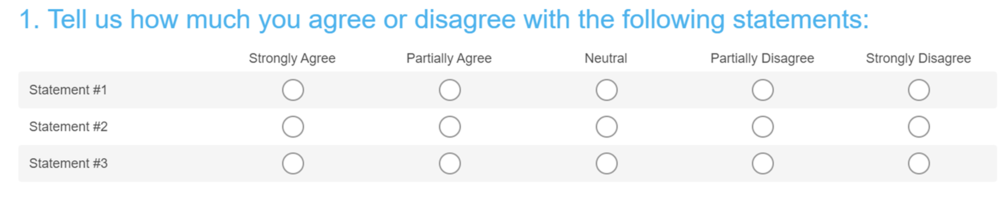Survey Question Example