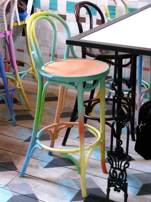 Dishoom rainbow chair