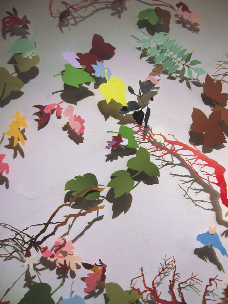 Sophia Allison  - Floral wall installation cut paper 2009