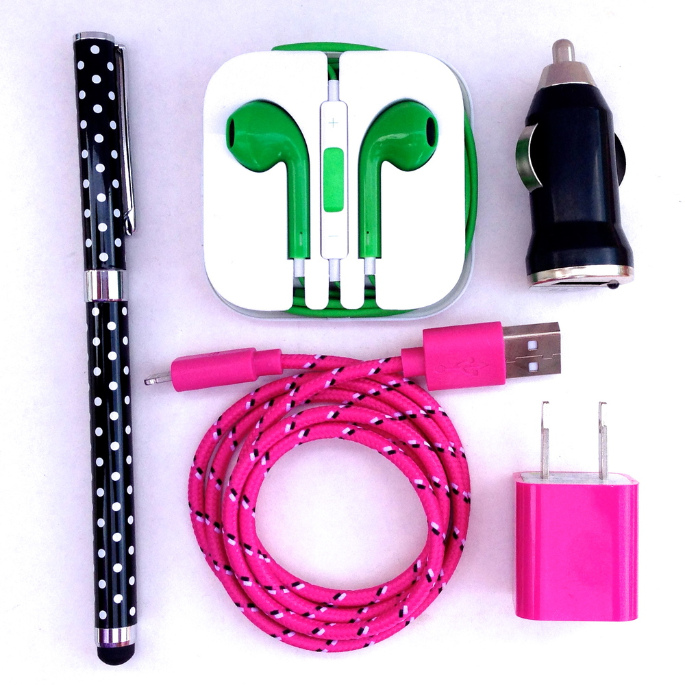 AWESOME CHARGER SETS, HEADPHONES AND STYLUS PENS