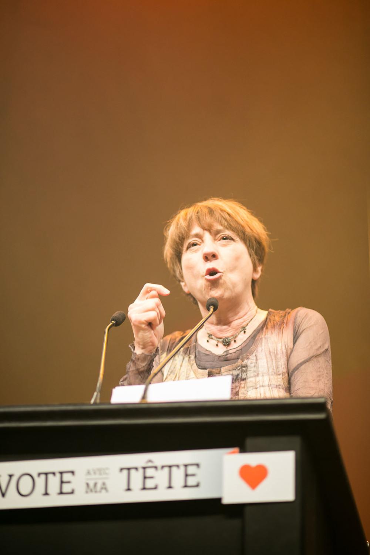 La porte-parole Françoise David est réélue pour la deuxième fois dans Gouin.