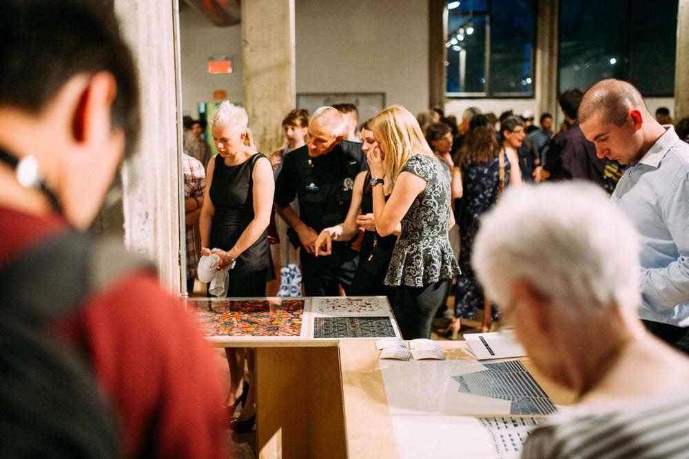 Exposition des finissants du programme de photographie du cégep du Vieux Montréal à l'Espace Infopresse.