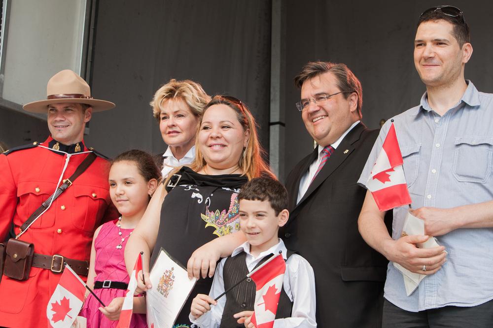 Denis Coderre, maire de la ville de Montréal, était présent pour la cérémonie d'assermentation.
