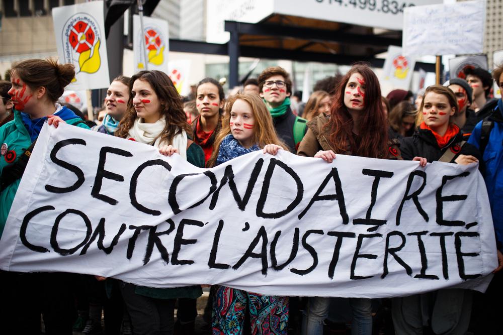 Certaines écoles secondaires, comme FACE Montréal avaient voté une journée de grève pour participer à la manifestation.
