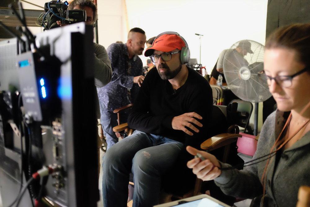 07/08/2017 French Canadian film-maker Ricardo Troggi on set