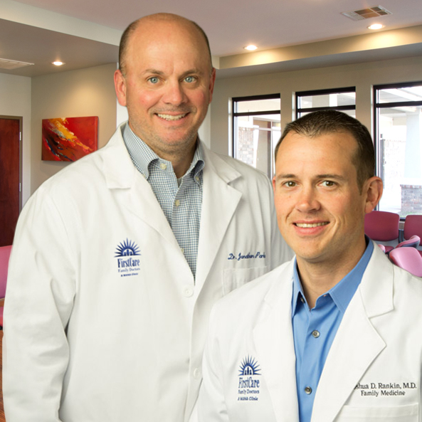 Dr. Jonathan Parker and Dr. Joshua Rankin of FirstCare Tontitown