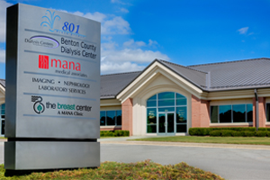 Pulmonologists see patients at MANA Bentonville Specialty Clinic.