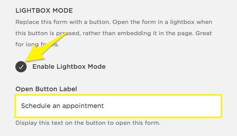 Squarespace Lightbox Mode