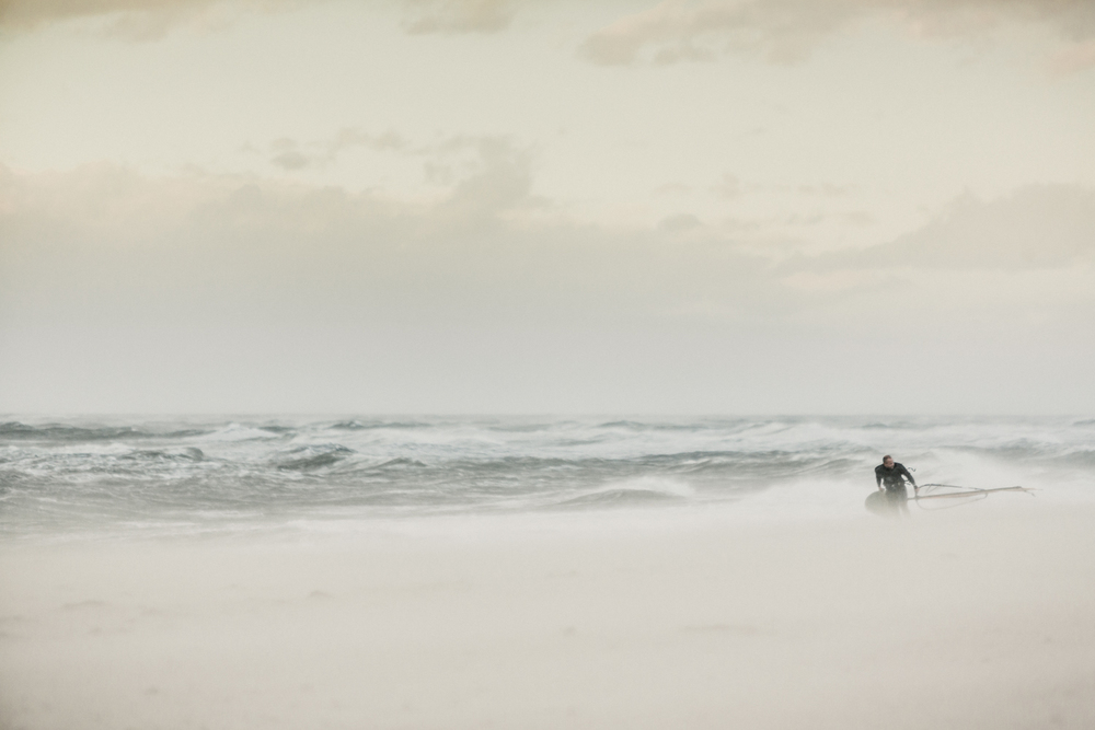 Windsurfer an der Ostsee - Fotoprint auf AluDibond Platte - 100 x 70 cm