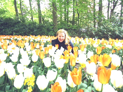 Me, in a field of tulips.