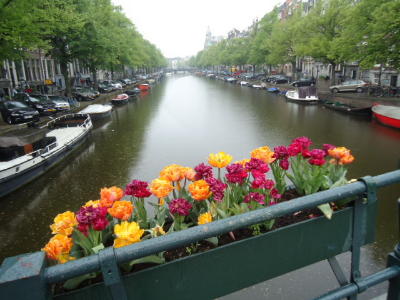 Canal in Amsterdam, May 2013.