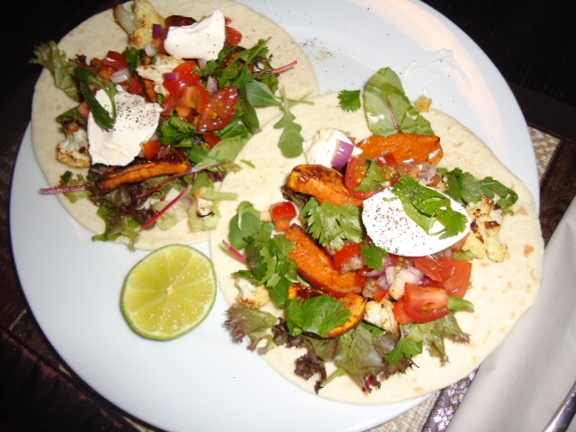 Sweet Potato and Cauliflower Tacos- Self Magazine