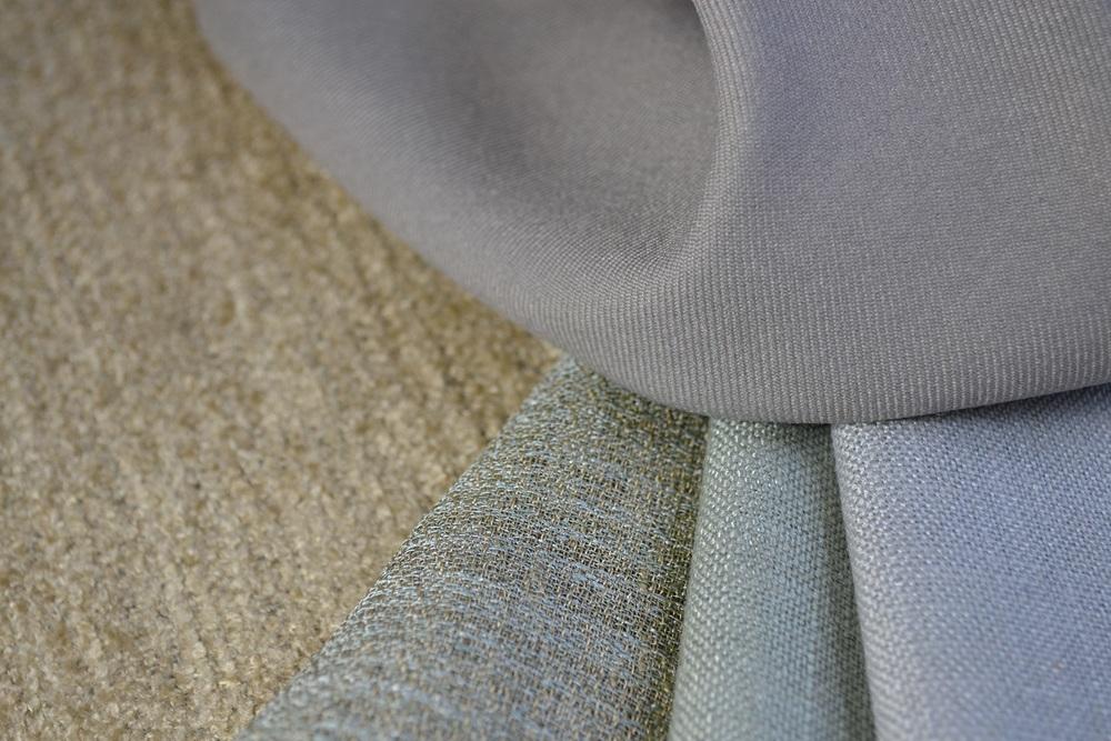 Blue fabric trio