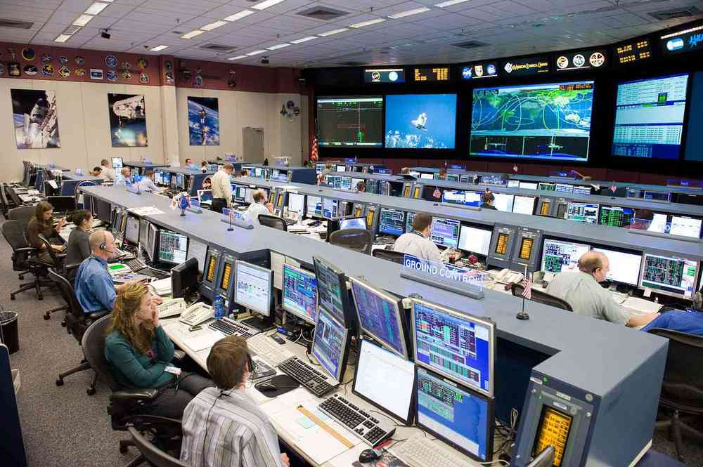 NASA International Space Station Control Room