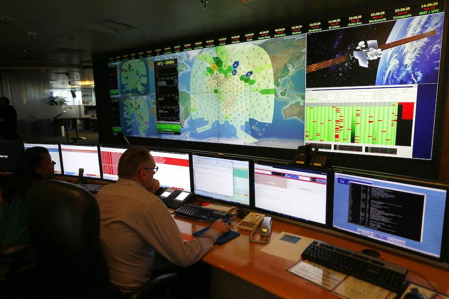 Inmarsat Control Room, London