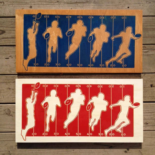 "Football Reception - 24""x12"" - $114EA"