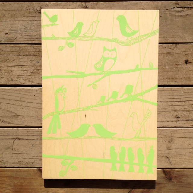 The Aviary - 15x21 - $110 (green)