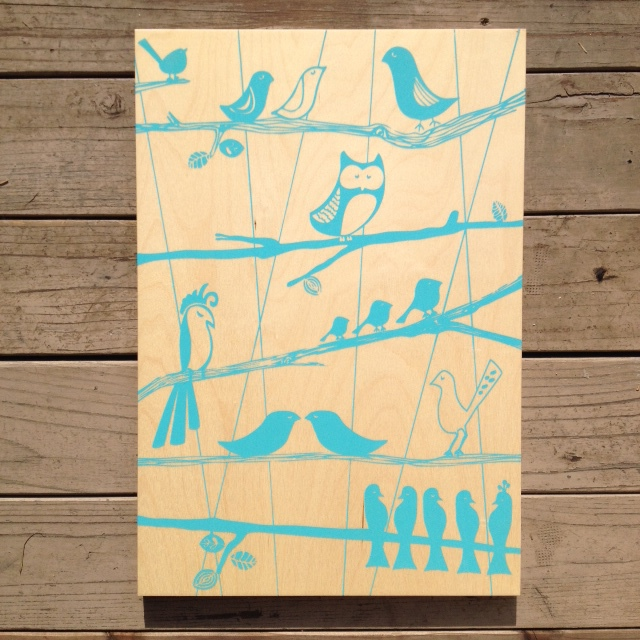 The Aviary - 15x21 - $110 (turquoise)