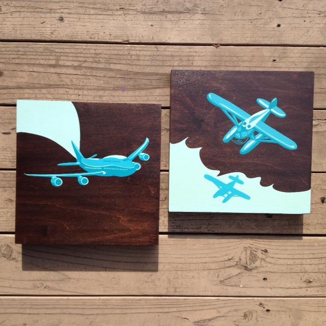 Jet Plane + Bi Plane - 12x12 $89EA Panel