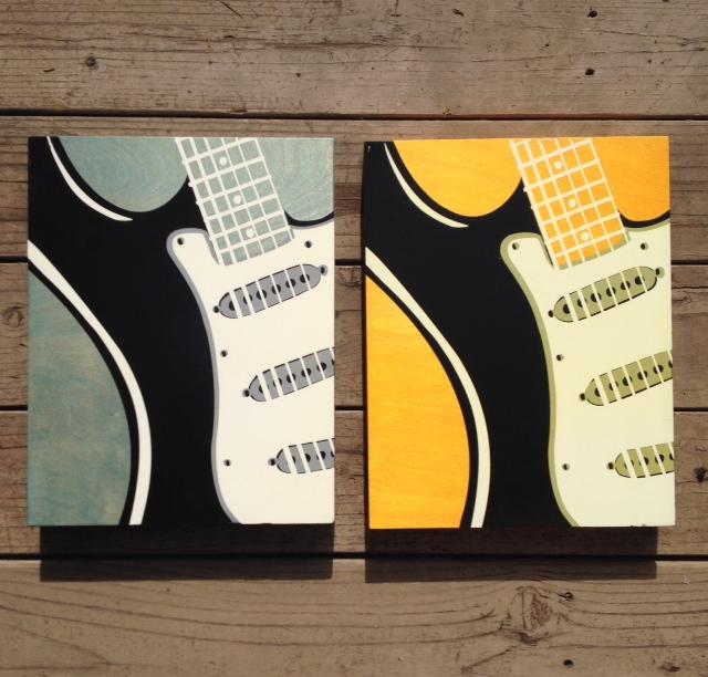 Guitar 2:Fender - 11x14 - $89