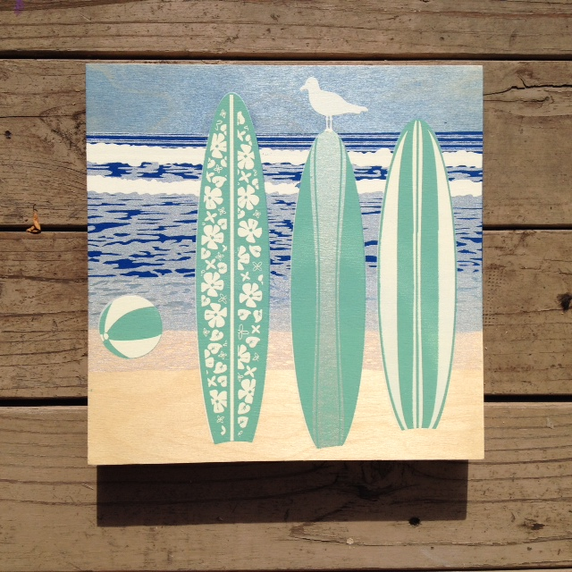 Malibu beach - 12x12 - $89