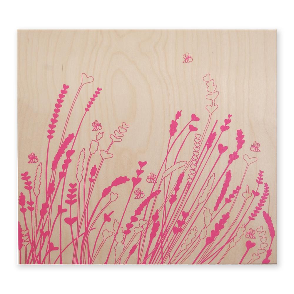 "Lavender+Bees - 16""x15"" - $79"