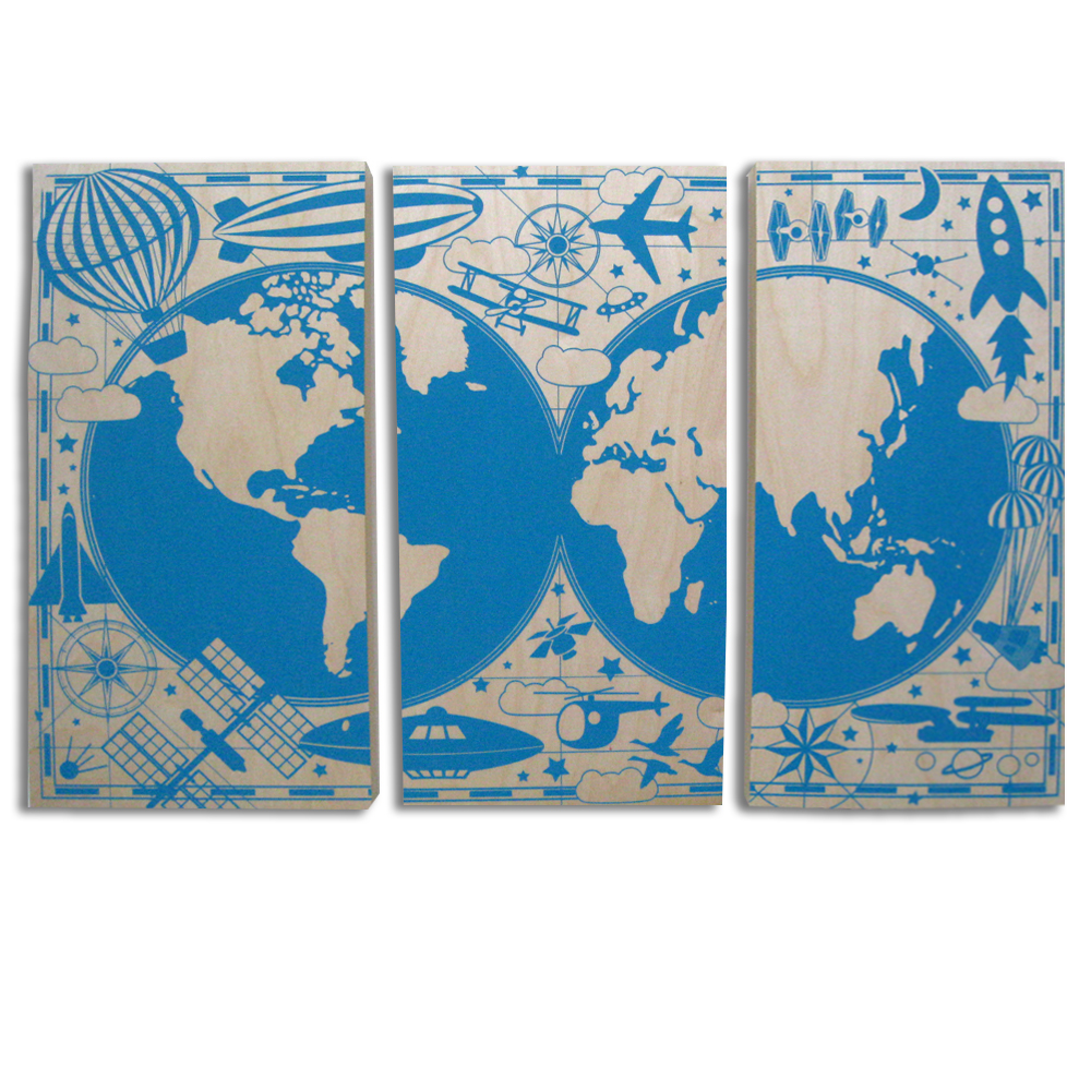 Flying tri set - 24x36 - $278