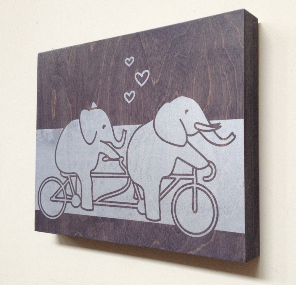 Bicycle for 2 - 14x11 - $59