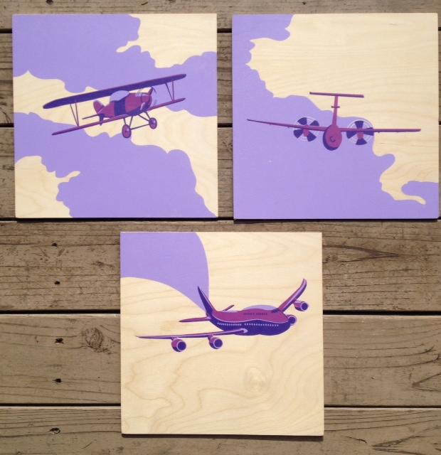 Lavender Planes *Need Frames* 12x12 $75ea